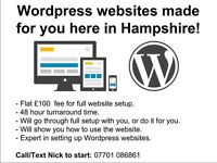 Get a 4 page Wordpress website in only 48 hours set up for just £100. Blog, pictures or company site