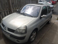 renault clio tested till april 2017 good runner (no rust) cheap on tax and insurance