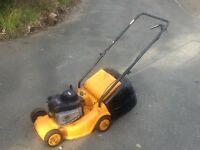 Petrol lawnmower with a Briggs and Stratton engine