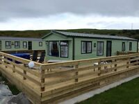 Sea Front Holiday Home - 3 Bedroom Willerby Salisbury Caravan With Decking on Quiet Holiday Park