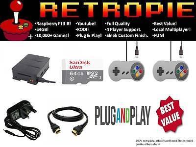 Retro Arcade Machine Emulator Raspberry Pi 3 ✔️ 10,000+ Games ✔️ 64GB ✔️ Youtube