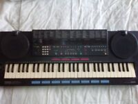 Retro Vintage Yamaha PSS-790 Portable MIDI Keyboard Vector Synth & Drums
