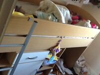 Cabin bed plus pull out desk & drawers