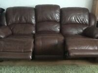 Leather, recliner 3seater sofa