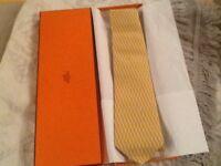 Genuine Hermes Silk Tie
