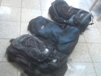 From £30 upto £45 each-rucksacks 50 litre upto 85 litres-lightly used in very good condition