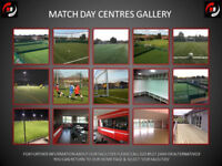 Football centre, fully equipped with 5, 7 and 11 a side all weather pitches. We also do functions!