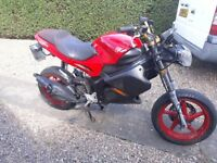 gilera dna 50 (RUNNING PROJECT / FIELD BIKE) no brakes and some fearing missing does start and ride