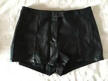 BARDOT- Black Leather High Wasted Shorts Kyneton Macedon Ranges Preview