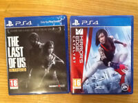 Ps4 games last of us, mirrors edge