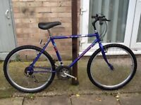 £35 mans bike can deliver for petrol 26 wheel 20 frame 18 gears in great condition all working