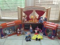ELC Puppet theatre with many puppet sets