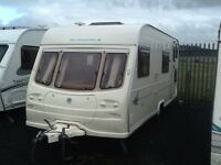 2002 AVONDALE dart 556/6 berth fixed bunk beds with awning & many extras