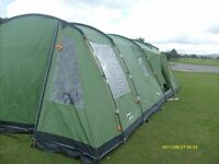 Vango 6 berth tent and accessories