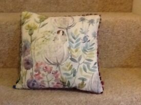 Voyage complete cushion Goldfinch design new with tags 30x30cm