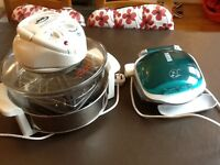 JML Halogen oven (hardly used), and George Forman grill.