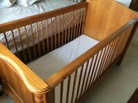 Traditional wooden toddler's cot