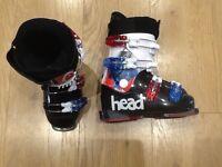 Junior Head Ski Boots Mondo 20.0/20.5 shoe size 12
