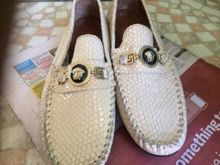 new versace shoes loafers brand new snakeskin style leather