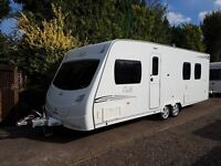 Lunar Delta TI 4 berth caravan 2009 FIXED ISLAND BED, MOTOR MOVER, AWNING !!