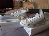 Size 5 silver trainers