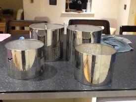 Metallic lampshades