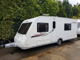 2013 Elddis Odyssey 540 4 berth caravan FIXED BED, MOTOR MOVER, Awning, VGC BARGAIN ! January Sale