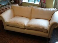 beautiful highly sprung two seater sofa/settee