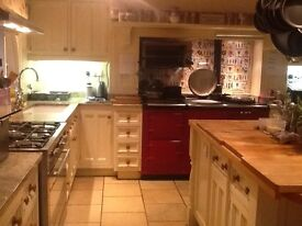 Beautiful deep red four door aga, gas fired, maintains heat brilliantly. Selling due to move.