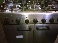 Burco Titan RG90LP 6 Burner Gas Oven Range Cooker LPG