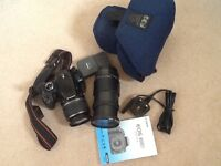 Canon EOS 400D with Canon lens, case, charger and 28-200 Tamron lens