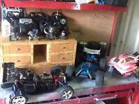 Thunder tiger RC buggys huge lot
