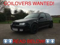 WANTED! Coilovers for a mk4 golf