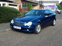 Mercedes-Benz C220 CDi Special Edition Coupe. 5 speed auto diesel. 143 bhp model. FSH.