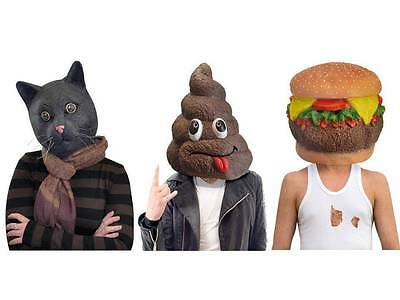 Black Jack The Cat Cheese Burger DOO DOO Head Mask Celeb Endorsed Novelty Masks
