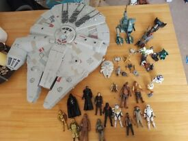 Star Wars the force awakens millennium falcon with added extra figures