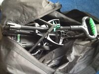 Golf clubs, full set, trolley plus extra clubs