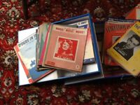 Old sheet music, three boxes, from the 30s, 40s, 50s, 60s, various artists, male and female