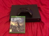 Xbox One X with One Controller & Game