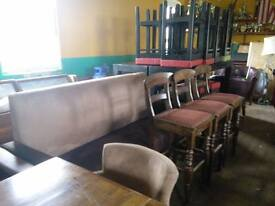 BAR AND RESTAURANT MIXED FURNITURE ITEMS SEATING TABLES CHAIRS ETC