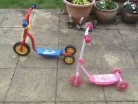 £10 each -Fireman Sam and Disney's Princesses used outdoor scooters for 3yr old plus