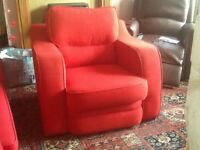 Free. Red fabric armchair