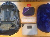 55L + 15L Deuter Backpacks and Accessories