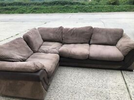 DFS Corner sofa with sofa bed, with footstall.