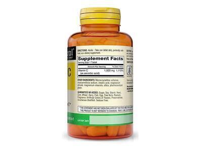 100 Tablets Vitamin C 1000 mg 100 TABLETAS VITAMINA C 1000MG ASCORBIC ACID 1