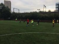 Casual 7/8-a-side football in Mile End every Monday night! Need 2 more players