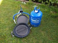 Cadac portable BBQ complete with Gas bottle and regulator plus paella pan