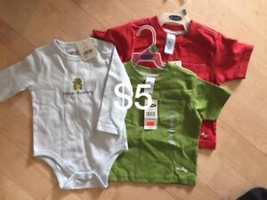 Size 6-12 month shirts $5 for the picture