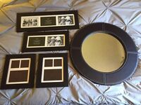Mirror and photo frames