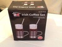 PAIR OF IRISH COFFEE GLASSES (NEW)